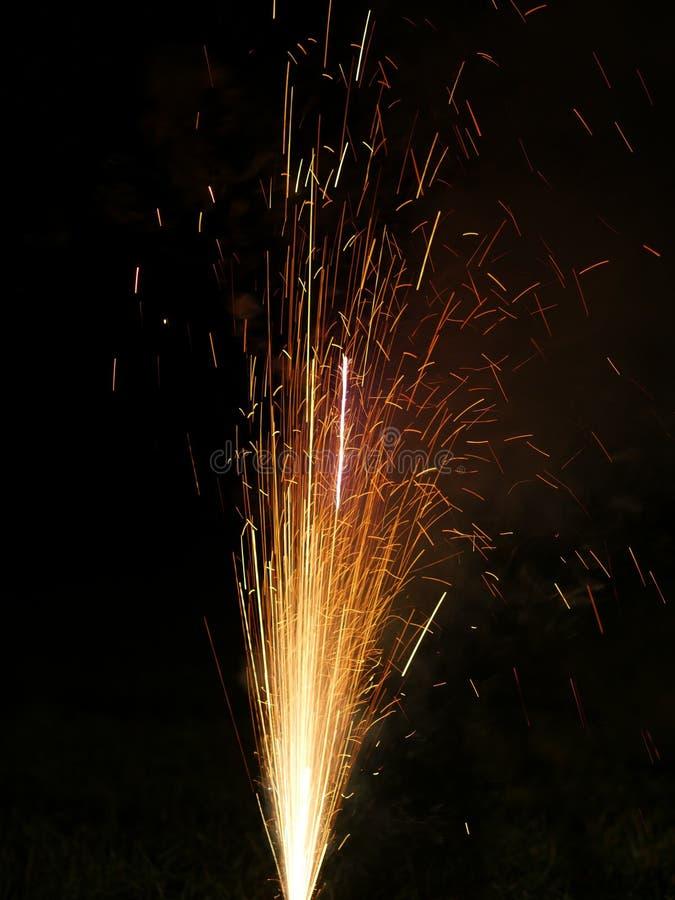 Véspera de Ano Novo dos fogos-de-artifício fotos de stock