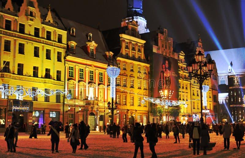 Véspera Do Ano Novo No Wroclaw Fotografia Editorial