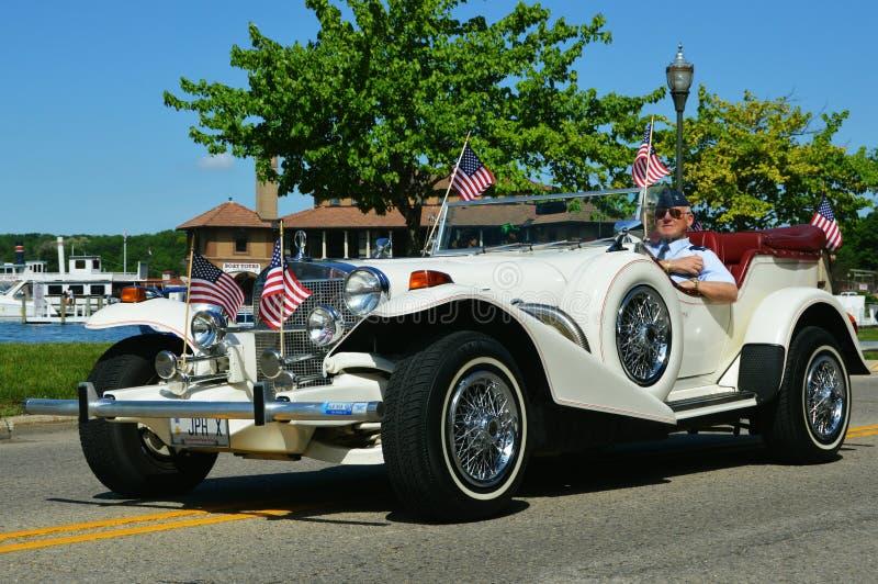 Vétéran dans Rolls Royce images stock