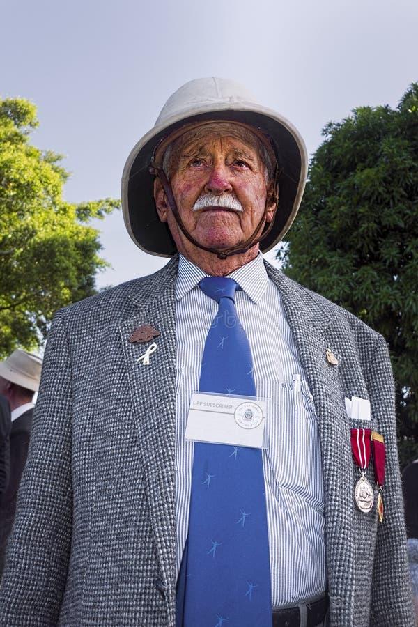 Vétéran de la guerre mondiale 2 sur Anzac Day photographie stock