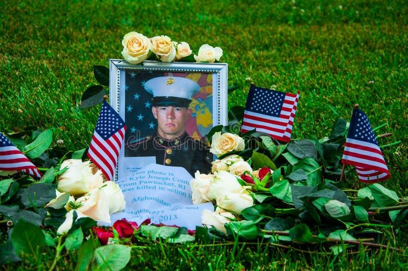 Vétérans du Vietnam commémoratifs dans le Washington DC, Etats-Unis photo stock
