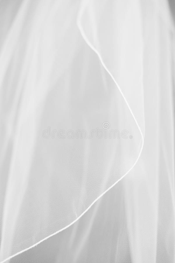 Véu nupcial branco do casamento foto de stock royalty free