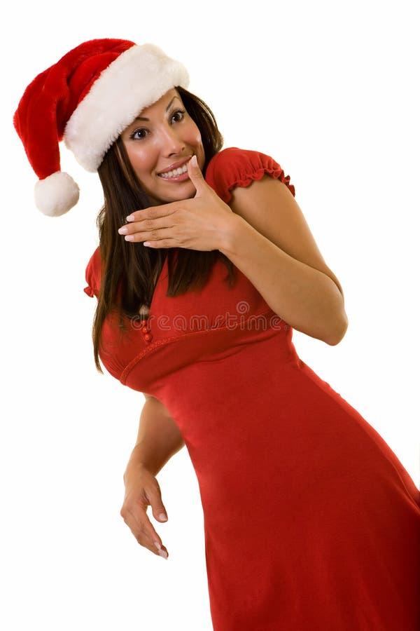Vêtement de femelle de Noël photographie stock