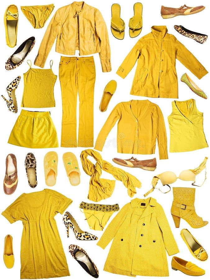 vêtement jaune photos stock