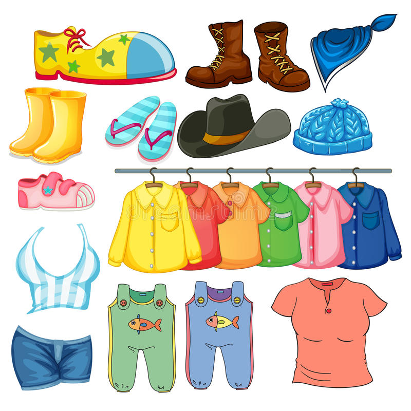 Vêtements illustration stock
