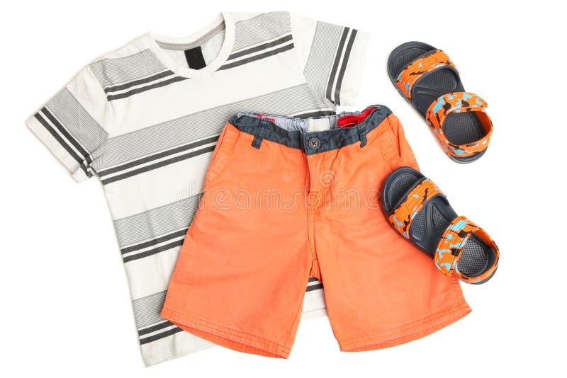 Vêtements d'été du ` s d'enfants photographie stock
