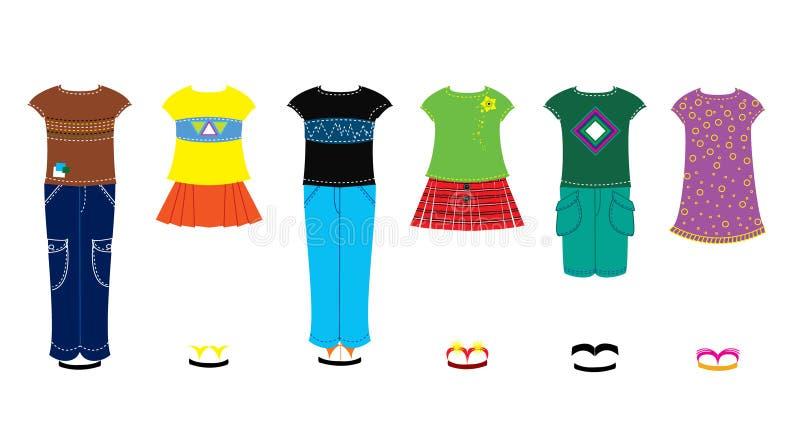 vêtements d'enfants illustration de vecteur