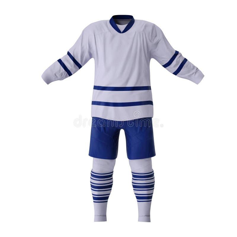Vêtements d'hockey sur le blanc Front View illustration 3D illustration de vecteur