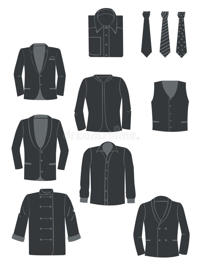 Vêtements d'homme illustration libre de droits