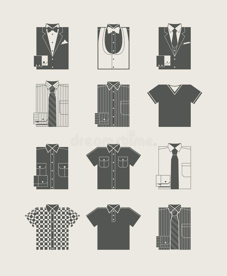 Vêtements d'homme. Positionnement de graphisme. illustration stock
