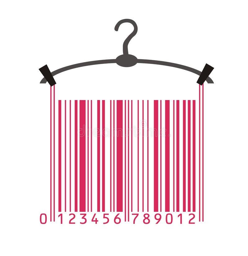 Vêtements dans le code barres illustration stock