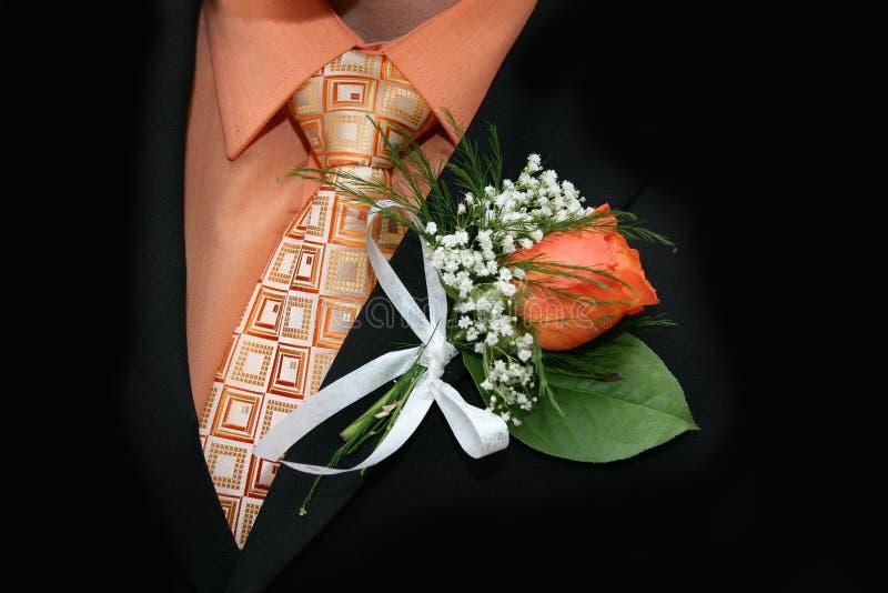 Vêtements de mariage photographie stock libre de droits