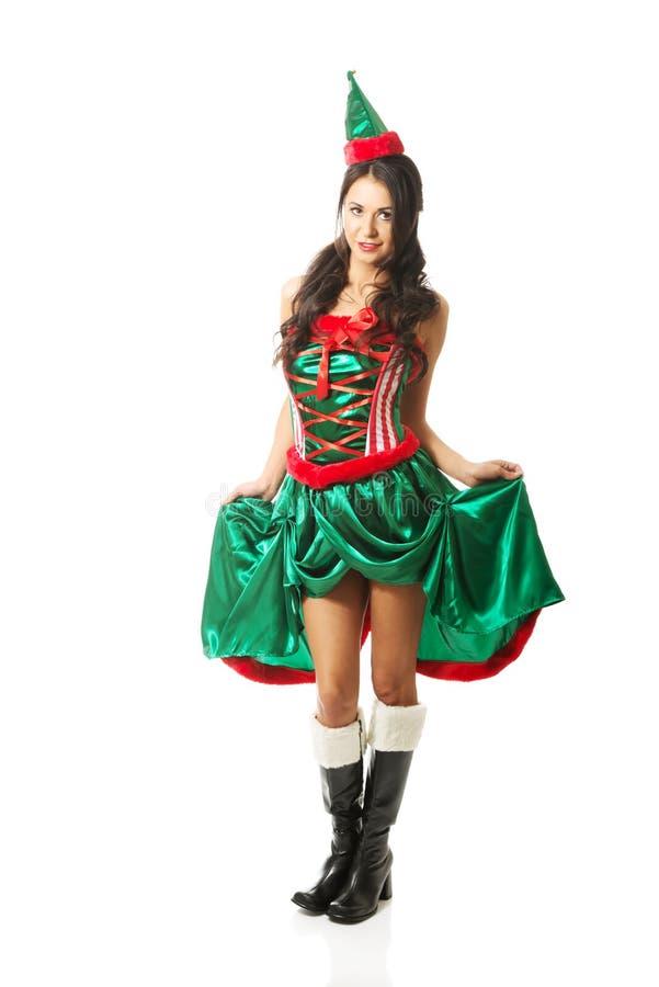 Vêtements de port d'elfe de belle femme intégrale images libres de droits