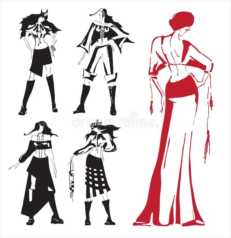 Vêtements de retrait. illustration de vecteur