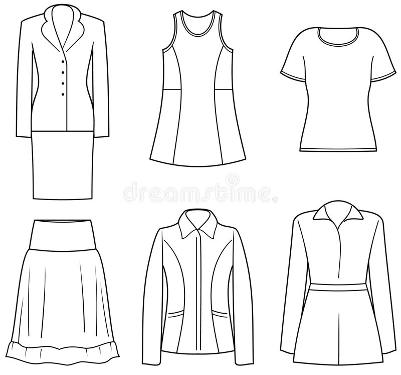 Vêtements de Womenâs illustration de vecteur