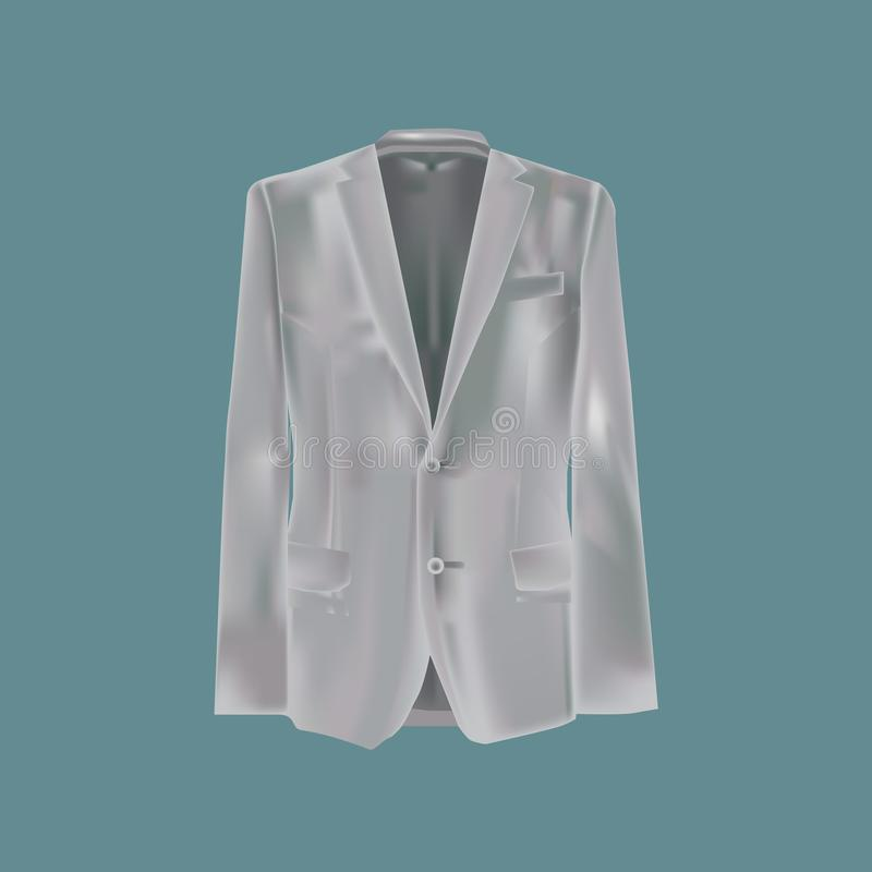 Vêtements du ` s d'hommes de maquette Équipez le ` s beau, costume, veste illustration de vecteur
