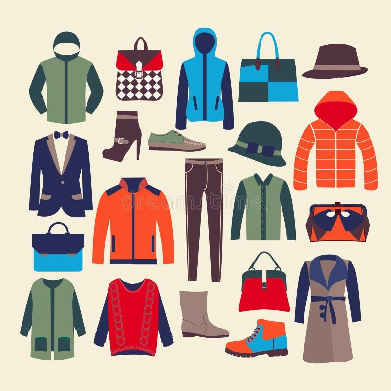 Vêtements et accessorie-illustration de mode de vecteur illustration stock