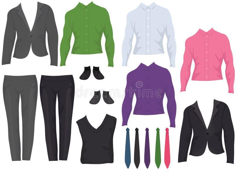 Vêtements mâles de bureau illustration de vecteur
