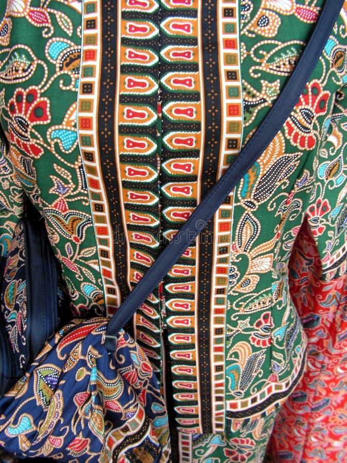 Vêtements malais ethniques photographie stock libre de droits