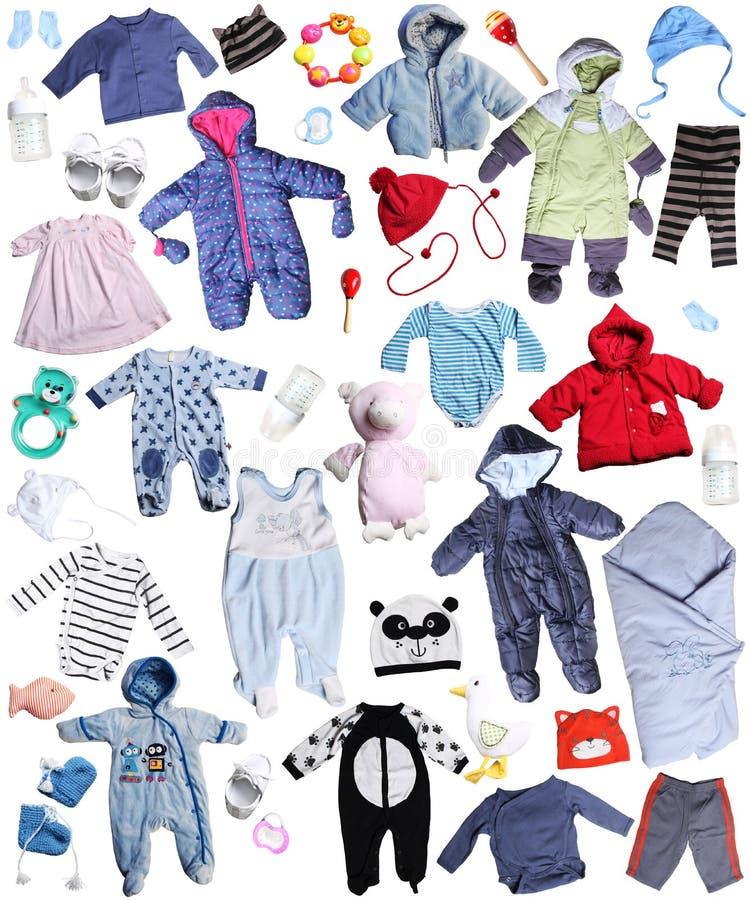 Vêtements pour des enfants images libres de droits