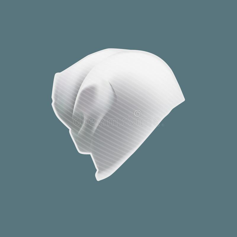 Vêtements réalistes du ` s d'hommes de maquette, accessoires Beau chapeau moderne, coiffe de la jeunesse illustration libre de droits