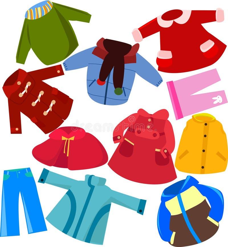 Vêtements réglés illustration stock