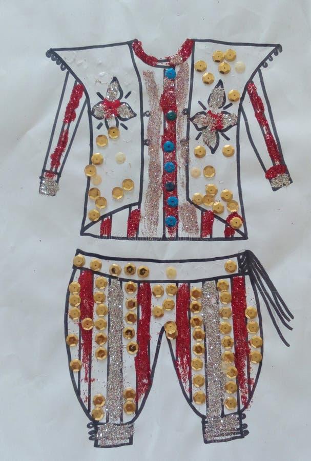 Vêtements tunisiens photographie stock