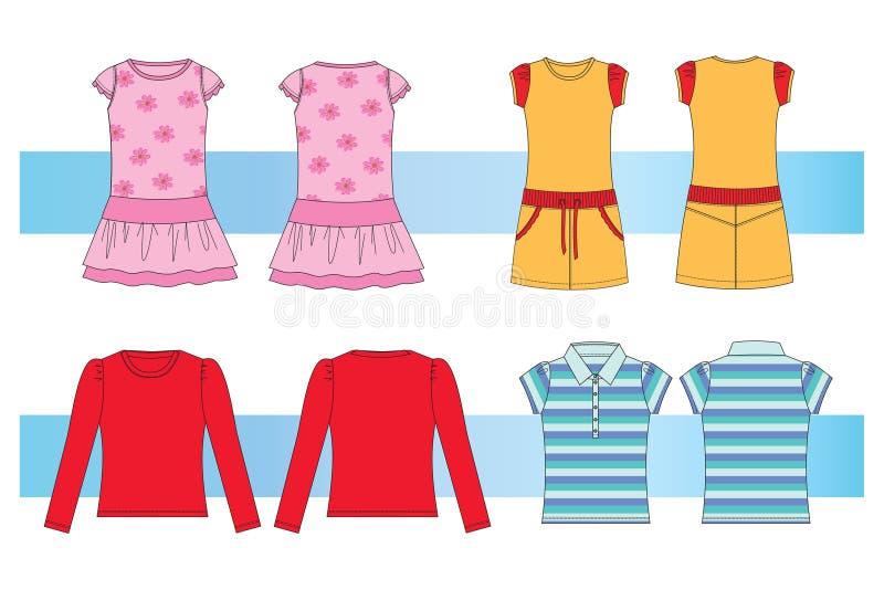 vêtx des femmes de filles jeunes illustration de vecteur