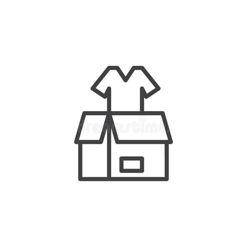 Vêtx l'icône d'ensemble de donation illustration stock