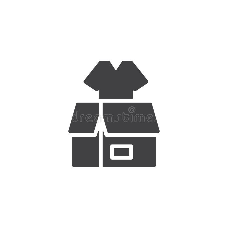 Vêtx l'icône de vecteur de donation illustration stock