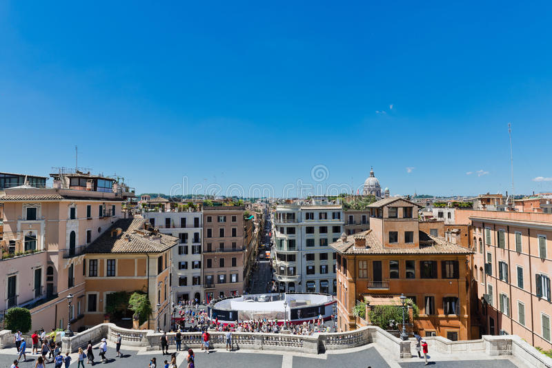Vía Condotti, Roma Esta calle es el centro de las compras de la moda fotos de archivo libres de regalías