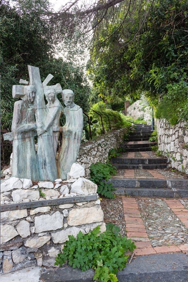 Vía Crucis imagenes de archivo