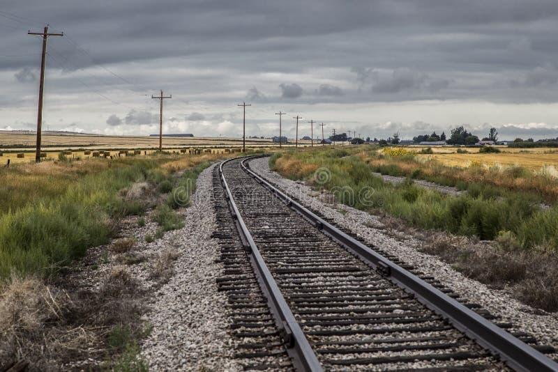 Vía del tren de Idaho fotos de archivo