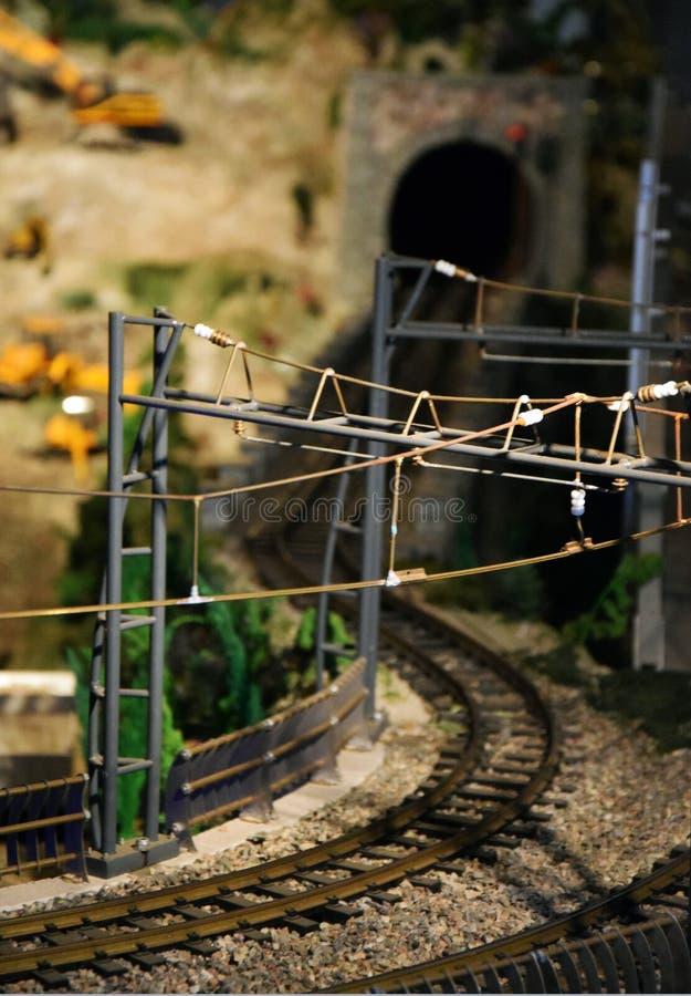 Vía del tren - modelo realista imagen de archivo