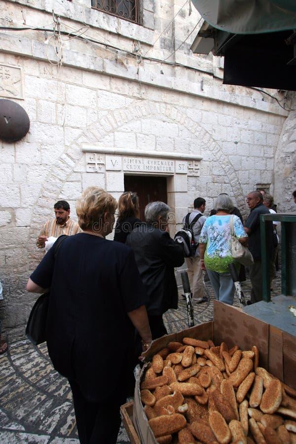 Vía dolorosa, Jerusalén imagenes de archivo