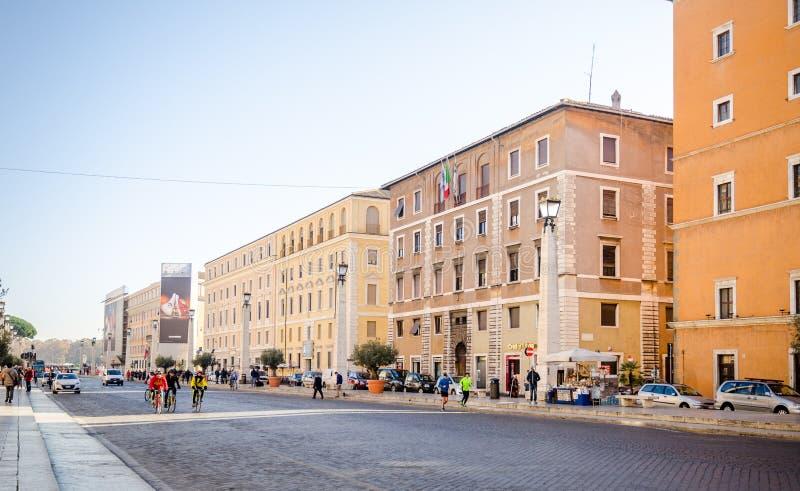 Vía el della Conciliatione (camino de la conciliación) foto de archivo