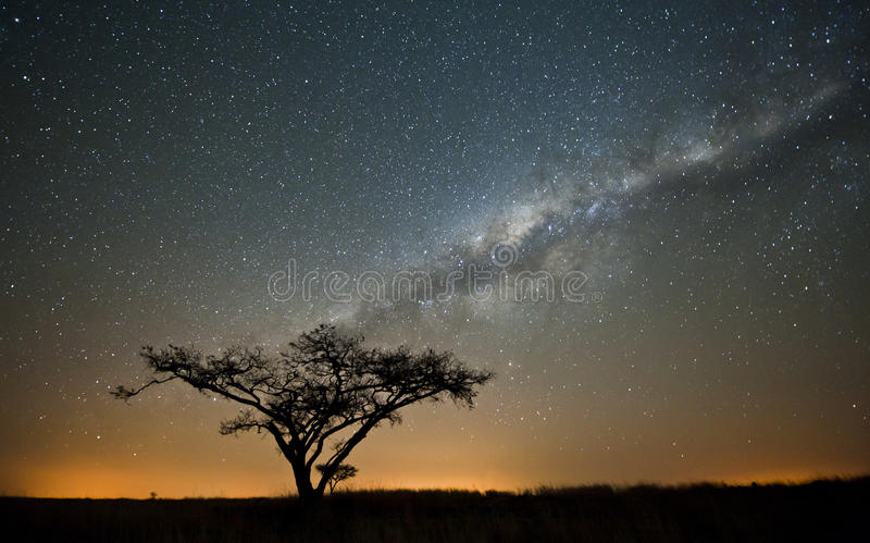 Vía láctea africana Suráfrica fotografía de archivo libre de regalías