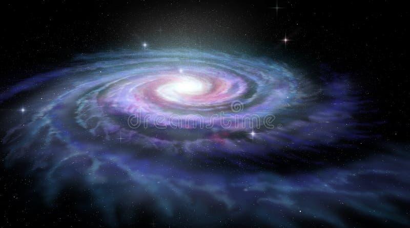 Vía láctea de la galaxia espiral ilustración del vector