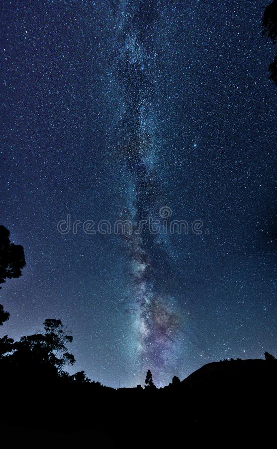 Vía Láctea en plenitud royalty free stock photography