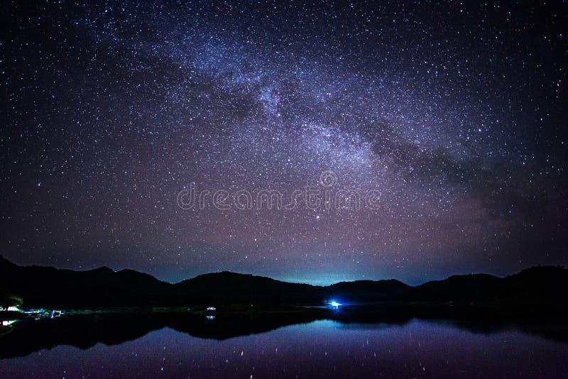 Vía láctea, la galaxia fotografía de archivo