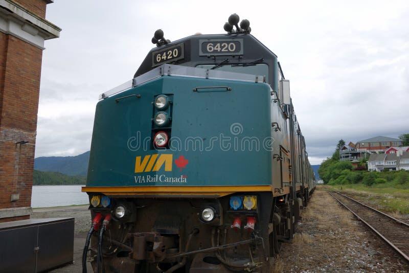 A vía la locomotora del carril fotografía de archivo libre de regalías