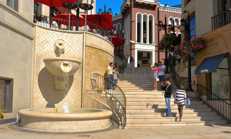 Vía rodeo en mecanismo impulsor del rodeo, Beverly Hills imagen de archivo libre de regalías