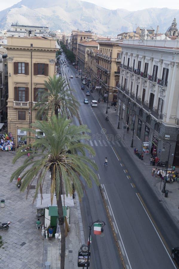 Vía Roma, Palermo imagenes de archivo