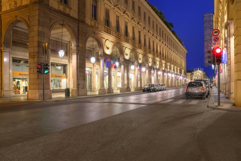 Vía Roma, Turín, Italia fotografía de archivo libre de regalías