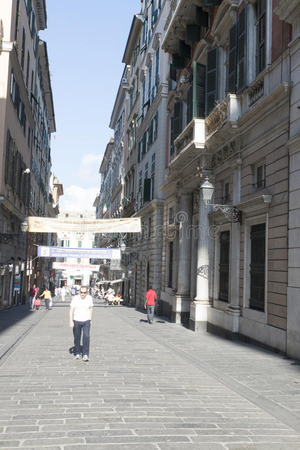 Download Vía San Lorenzo, Génova fotografía editorial. Imagen de historia - 44855362
