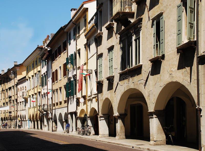 Vía Vittorio Véneto, Udine imagen de archivo libre de regalías