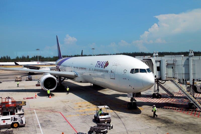 Vías aéreas tailandesas fotos de archivo