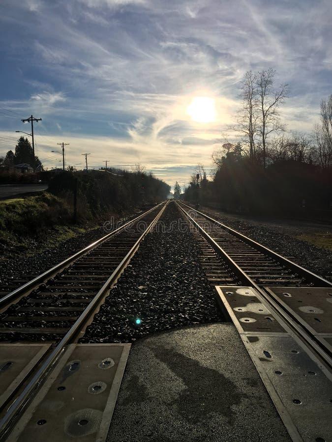 Vías del tren de Tacoma fotografía de archivo