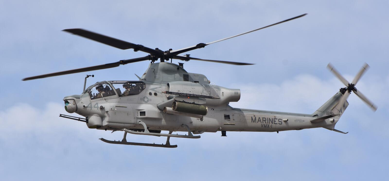 Víbora de Marine Corps AH-1Z imagem de stock royalty free