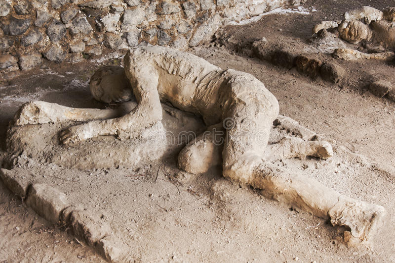 Víctimas de Pompeya fotografía de archivo libre de regalías